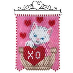 Herrschners® Herrschners® Be Mine Kitten Beaded Banner Kit Beaded Banner Kit