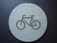 Bicyclette moderne point de croix