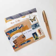 Shorter winter days are bumming me out. I love crafting when it's bright and sunny, so I'm reduced to weekends only. Here's a letter from a few weeks ago ....