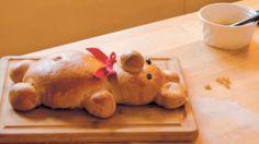 Sweet dough bears - try adding dried fruit