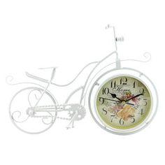Fleur De Lis Living Bicycle Table Clock | Wayfair Mantle Clock, Clock Decor, Unique Home Decor, Vintage Home Decor, Bicycle Clock, Bike, Desktop Clock, Tabletop Clocks, Table Top Display