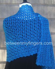 Hug for Janice Shawl - Free crochet pattern from Between My Fingers