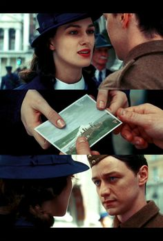 Cecilia Tallis and Robbie Turner  Keira Knightley and James McAvoy
