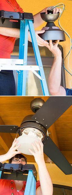 Install a ceiling on your porch so you'll have a breeze all summer long. Caitlin Ketcham of Desert Domicile shows how easy it is to install a ceiling fan... on The Home Depot Blog. || @desertdomicile