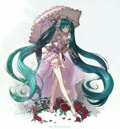Miku Hatsune, vocaloid, looks like little bow peep. Really cute♡♡♡ESTERIA-cutie emily pie (*_☆)》