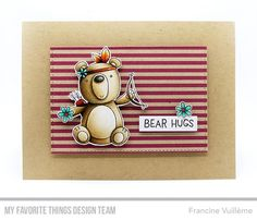 Beary Big Adventure Stamp Set and Die-namics, Inside & Out Stitched Rectangle STAX Die-namics - Francine Vuillème  #mftstamps