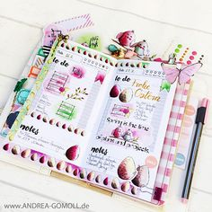 Cre8tive Cre8tions by Andrea Gomoll | Spring Watercolor Printables / Clipart for Plannersticker, Cards and other Papercrafts | Webster's Pages Color Crush Travelers Notebook | http://andrea-gomoll.de
