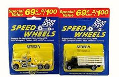 MOC Pair of 2 Speed Wheels Black Dump Truck and Yellow Semi Truck!