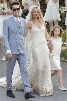Kate Moss et Jamie Hince, robe John Galliano