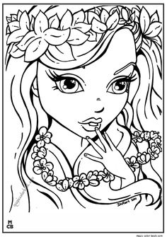 Adults girls Patterns coloring pages