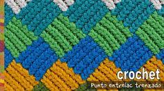 Punto entrelac trenzado (¡con trenzas gorditas!) a crochet / Tejiendo Perú