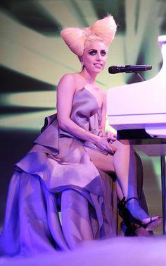 Wednesday & Sokuen - Look 1  Model: Sarah  Lady Gaga      Research: Hair bow tutorial, makeup design