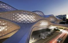 King Abdullah Financial District Metro Station by Zaha Hadid Architects