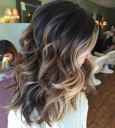 Brunette Hair Balayage with highlights - Balayage for dark hair