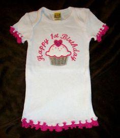 My First Birthday Girls Shirt SoFabulousKids.com