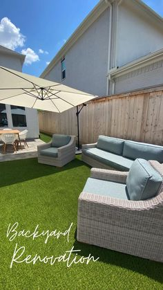 Small Backyard Landscaping, Small Patio, Backyard Ideas, Fall Cleaning, Backyard Makeover, Outdoor Furniture Sets, Outdoor Decor, Home Renovation, House
