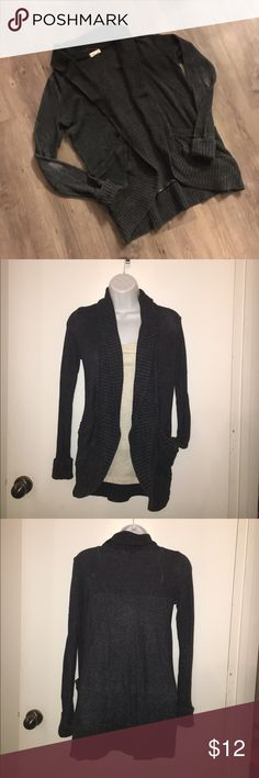 Dark Grey Shrug Really cute Shrug... sleeves are fading at the elbows (see 4th pic) silence + noise Sweaters Shrugs & Ponchos