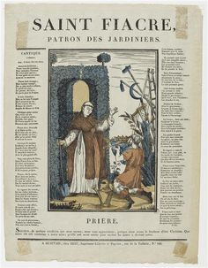 Saint Fiacre,patron saint of gardeners.