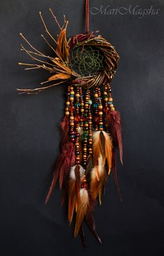 """Hunters handmade dreams. Order Dreamcatcher """"In the land where the sound of birds singing."""" MariMagsha (Maria). Arts and crafts fair."""