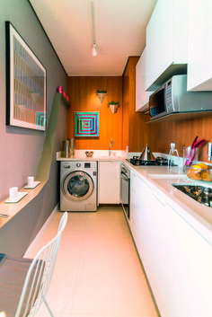 Apartamento pequeno: assimetria que dá bossa em 34m² | Minha Casa