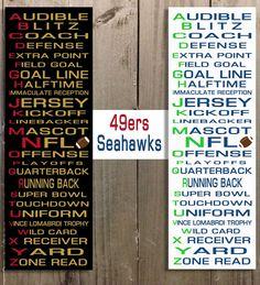 Sports Decor Football Art Kids room Nursery by YourLifeMyDesign