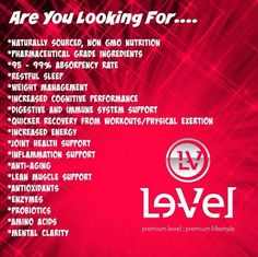 Are you sick and tired of being sick and tired? If you want more info check out http://trailrunner1.le-vel.com/ and you can experience Thrive for yourself! You will be glad you did.
