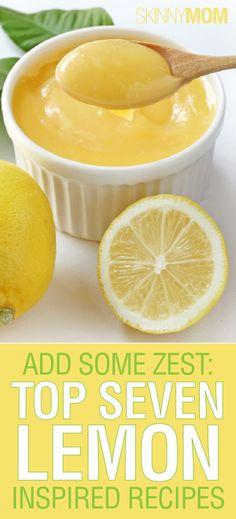 7 Lemon Recipes from Skinnymom I love love love lemons!!!!!!!!