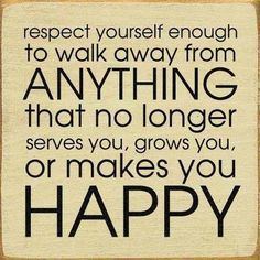 It's ok to walk away