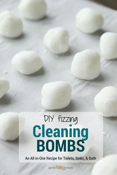 "If you want to keep your sink smelling fresh and your toilet sparkling between cleanings, then these DIY Cleaning Fizzers are the bomb! Fizzers or ""Cleaning Bombs"" are ready and willing to do the grunt work for you. Make a bunch and store them in a jar near the offending fixture. When your toilet, sink, or tub seems to need a little ""pick-me-up"" just plop one in and let the cleaning explosion begin! #sponsored"
