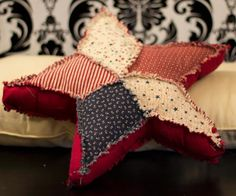 All Americana Star Pillow Free Pattern