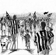 Botafogo vence Olímpia com espetáculo de paixão, educação e civilidade dado por nossa torcida