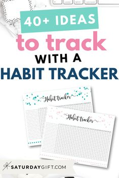 Want to get more ideas for you daily habit tracker? Check out the post with over 40 things you can choose from to track plus a cute printable habit tracker Mom Planner, Planner Pages, Printable Planner, Free Printables, Goal Journal, Tracker Free, Stress Relief Tips, Best Planners, All Family