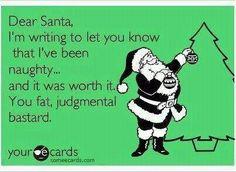 Dear Santa - I've been naughty!