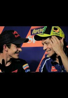 The master and the apprentice, rossi and marquez - love them both