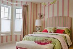 Stripes, much safer idea for children's decorating.
