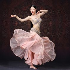 afdeb9c67a76 Details about New Luxury Professional Hand Made Beading Belly Dancing  Costumes 3PCS S M L