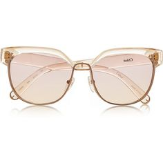 Chloé Dafne D-frame acetate sunglasses (2,185 BOB) ❤ liked on Polyvore featuring accessories, eyewear, sunglasses, glasses, sunnies, chloé, chloe sunglasses, acetate glasses, chloe glasses and chloe eyewear