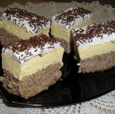 Romanian Desserts, Romanian Food, Romanian Recipes, Sweets Recipes, Cake Recipes, Cooking Recipes, Torte Recepti, Hungarian Recipes, Cookie Desserts