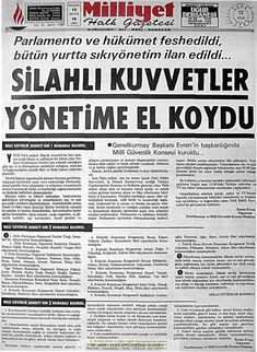 Milliyet gazetesi 12 eylül 1980 Newspaper Headlines, Old Newspaper, Galaxy Quotes, Turkey History, Piercings, Newspaper Archives, Whirlpool Galaxy, Andromeda Galaxy, Galaxy Print