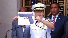 Diese Pistolen-Attrappe hatte der Junge laut Polizei bei sich.