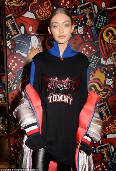 Model behaviour: Gigi Hadid arrived at the Tommy Hilfiger Flagship Store for London Fashion Week on Saturday to promote her Tommy C GiGI Spring '17 collaboration