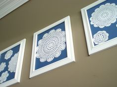 Now that's what I'm talking about!!  Doily art!!