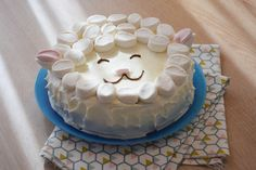 Concentré de tendresse - Gâteau mouton facile en chamallows Mochi, Happy Foods, Just Amazing, Cake Cookies, Caramel, Food And Drink, Birthday Cake, Baking, Recipes