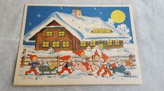 Very RARE Antique 40's Nyfo Made in Sweden Christmas Advent Calendar   eBay