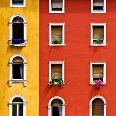 Architecture, tradition, color - Riva del Garda, Italy.   #TuscanyAgriturismoGiratola