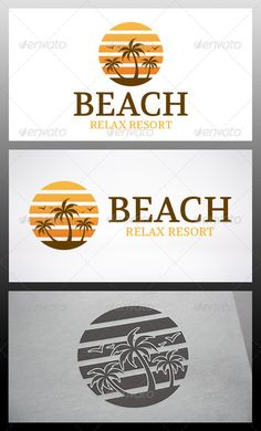Beach - Logo Design Template Vector #logotype Download it here: http://graphicriver.net/item/beach-logo/6346720?s_rank=1070?ref=nexion