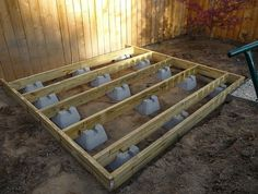 Building A Ground Level Deck With Deck Blocks
