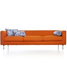 Moooi Boutique Delft Blue Jumper Triple Seater Sofa