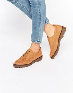 ** WOMEN** New Look Suedette Lace Up Brogue