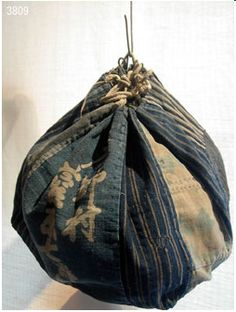 Patchwork rice bag from 2009 exhibition at Gallery Kei in Kyoto Japanese Textiles, Japanese Fabric, Boro, Shibori, Japanese Cotton, Japanese Rice, Japanese Bags, Furoshiki, Ethnic Bag